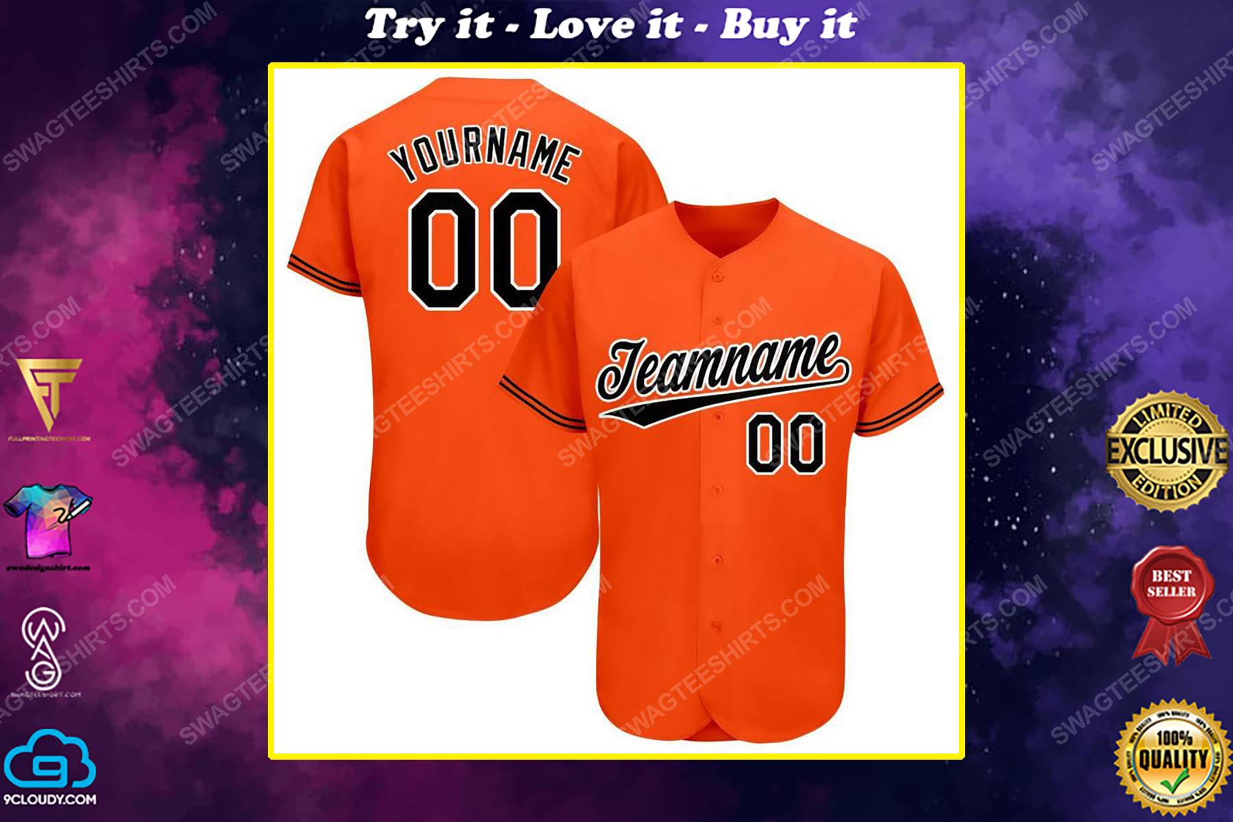 Custom team name baltimore orioles major league baseball baseball jersey
