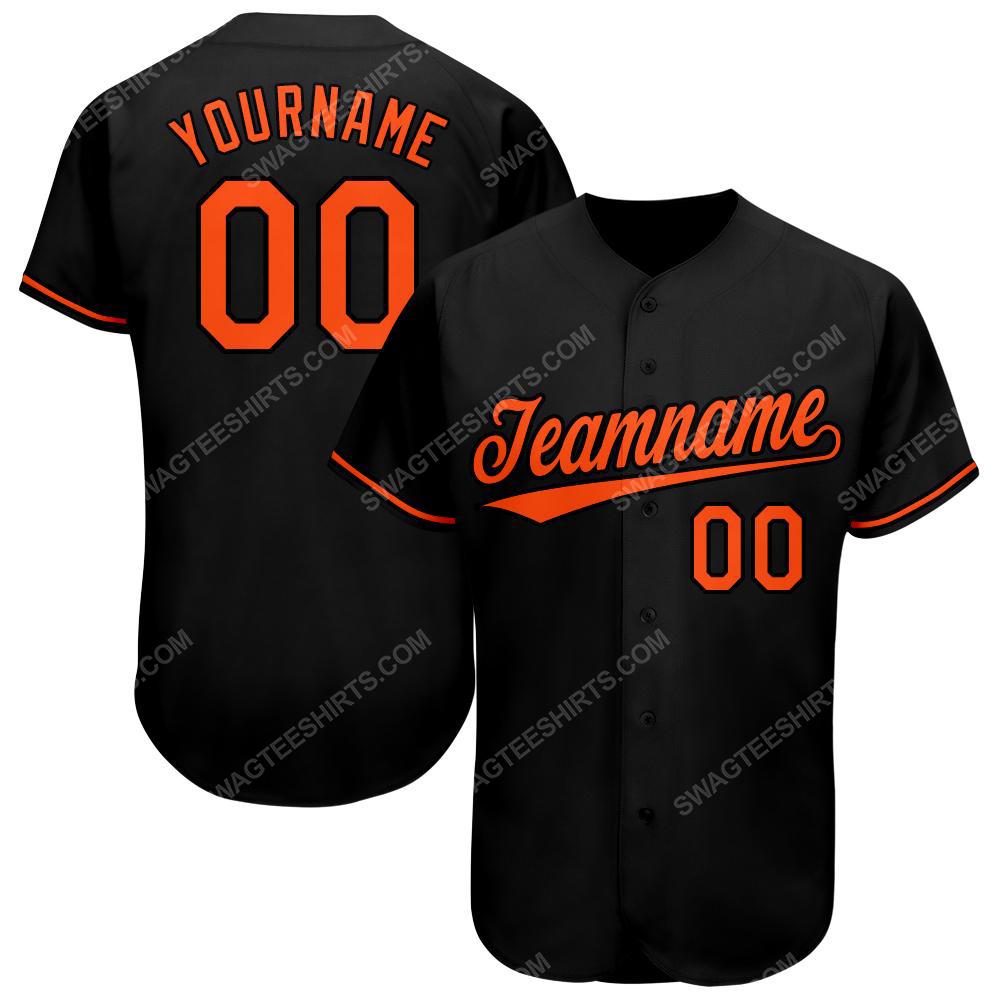 Custom team name baltimore orioles mlb full printed baseball jersey 1(1)