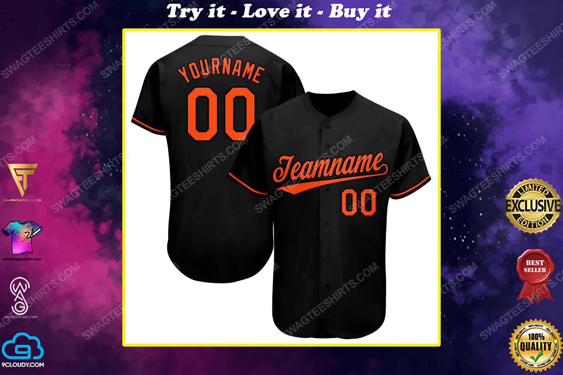 Custom team name baltimore orioles mlb full printed baseball jersey