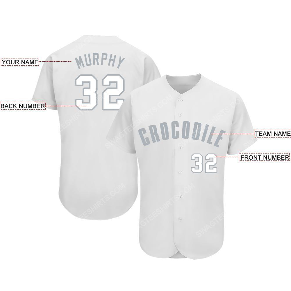 Custom team name chicago white sox baseball full printed baseball jersey 2(1)