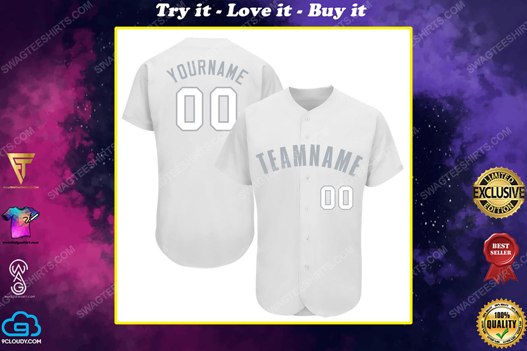 Custom team name chicago white sox baseball full printed baseball jersey