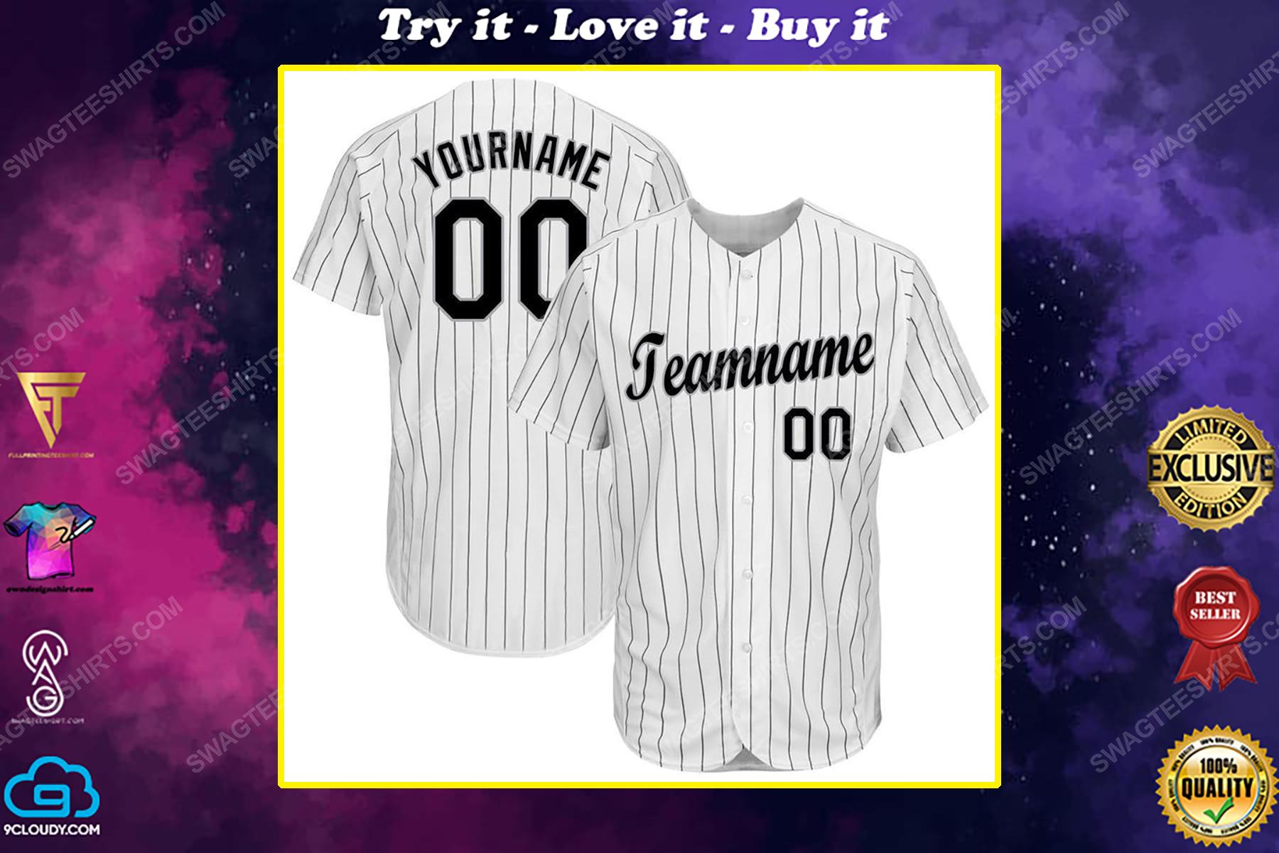 Custom team name chicago white sox baseball jersey