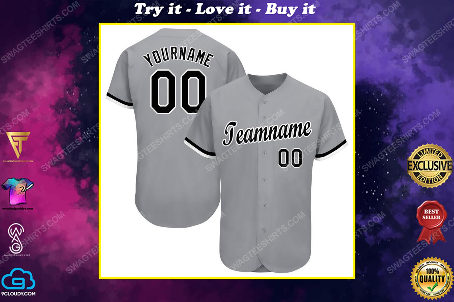 Custom team name chicago white sox major league baseball baseball jersey