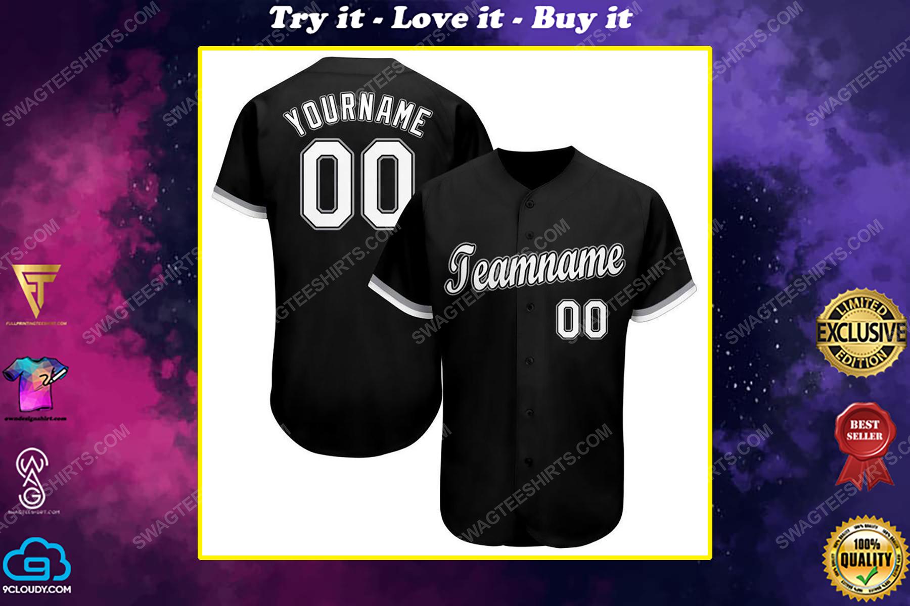 Custom team name chicago white sox mlb full printed baseball jersey