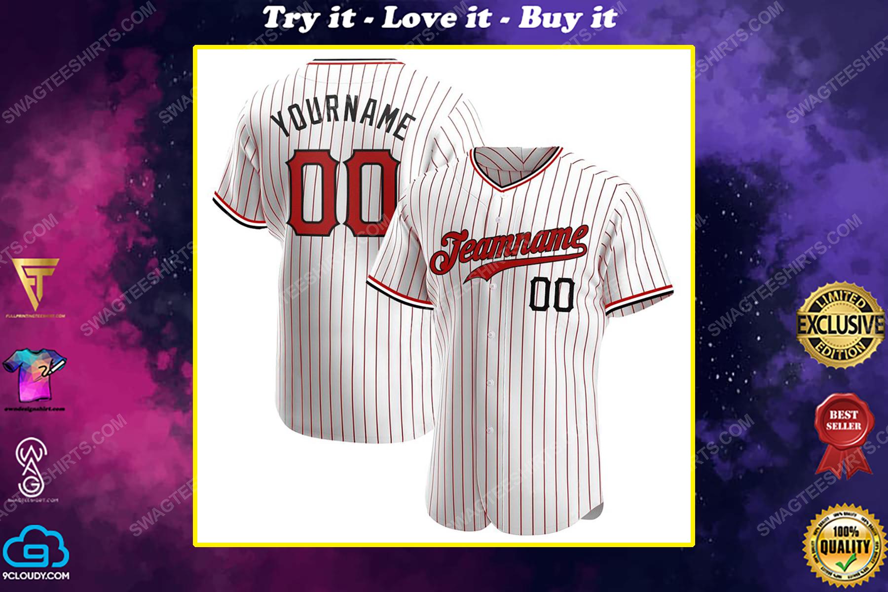 Custom team name cincinnati reds full printed baseball jersey