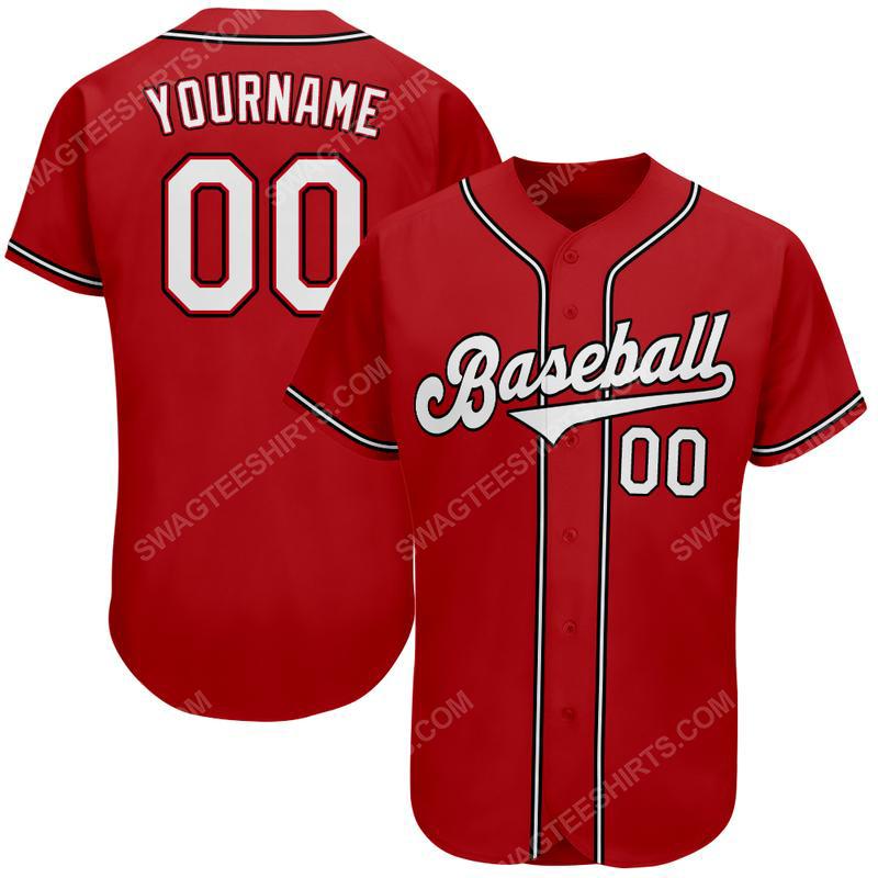 Custom team name cincinnati reds mlb full printed baseball jersey 2(1)