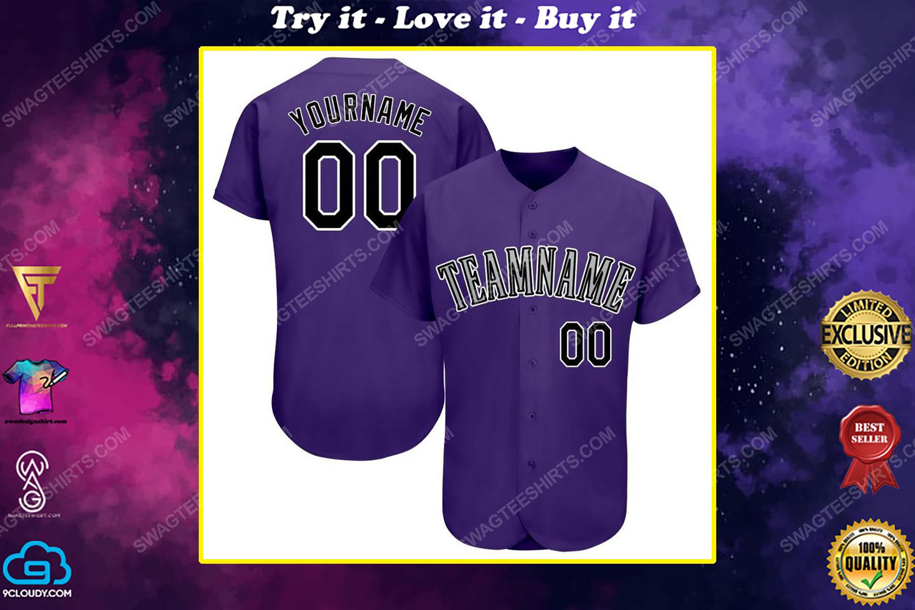 Custom team name colorado rockies full printed baseball jersey