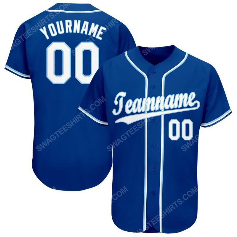 Custom team name kansas city royals full printed baseball jersey 1(1)