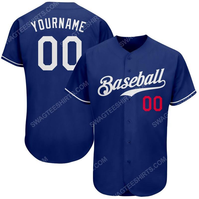 Custom team name kansas city royals logo full printed baseball jersey 1 - Copy(1) - Copy