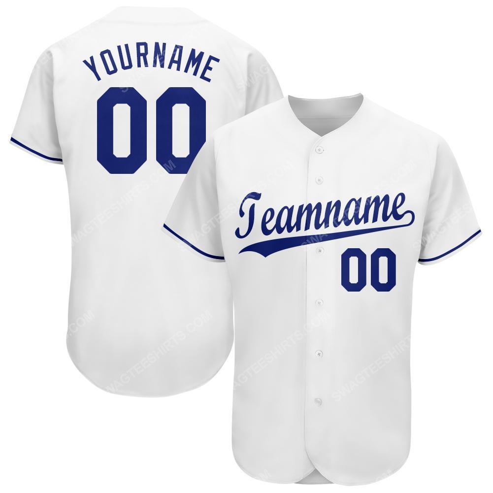 Custom team name kansas city royals major league baseball baseball jersey 1(1) - Copy