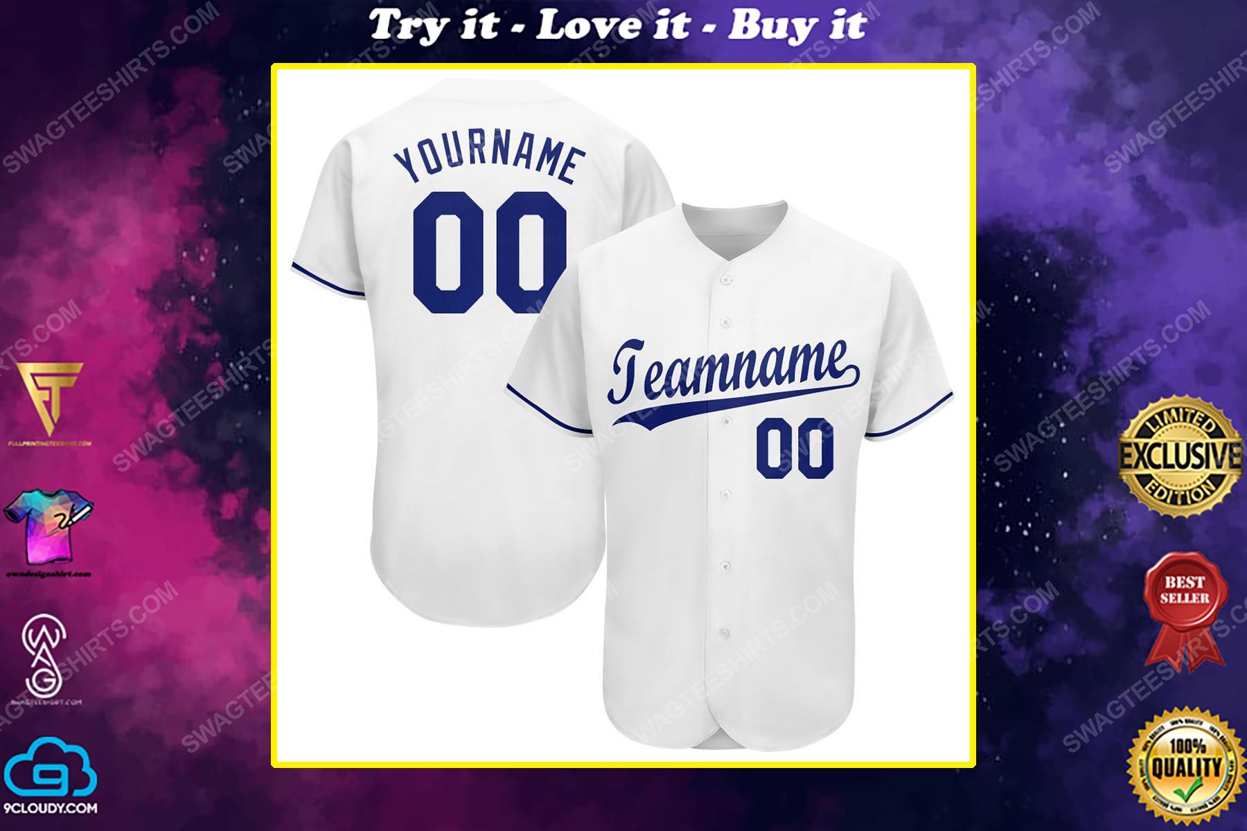 Custom team name kansas city royals major league baseball baseball jersey