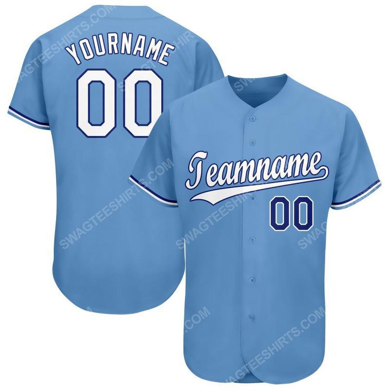 Custom team name kansas city royals mlb full printed baseball jersey 1(1)