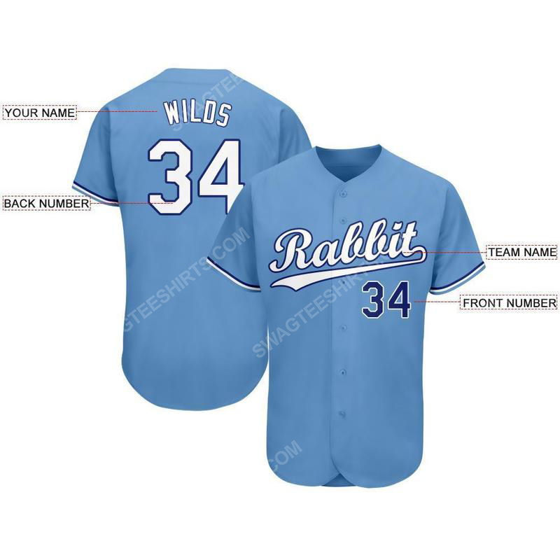 Custom team name kansas city royals mlb full printed baseball jersey 2(1)