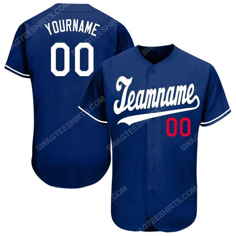 Custom team name los angeles dodgers full printed baseball jersey 2(1) - Copy