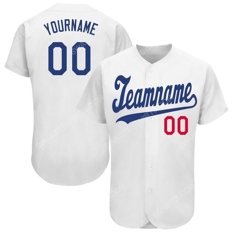 Custom team name los angeles dodgers mlb full printed baseball jersey 2(1)