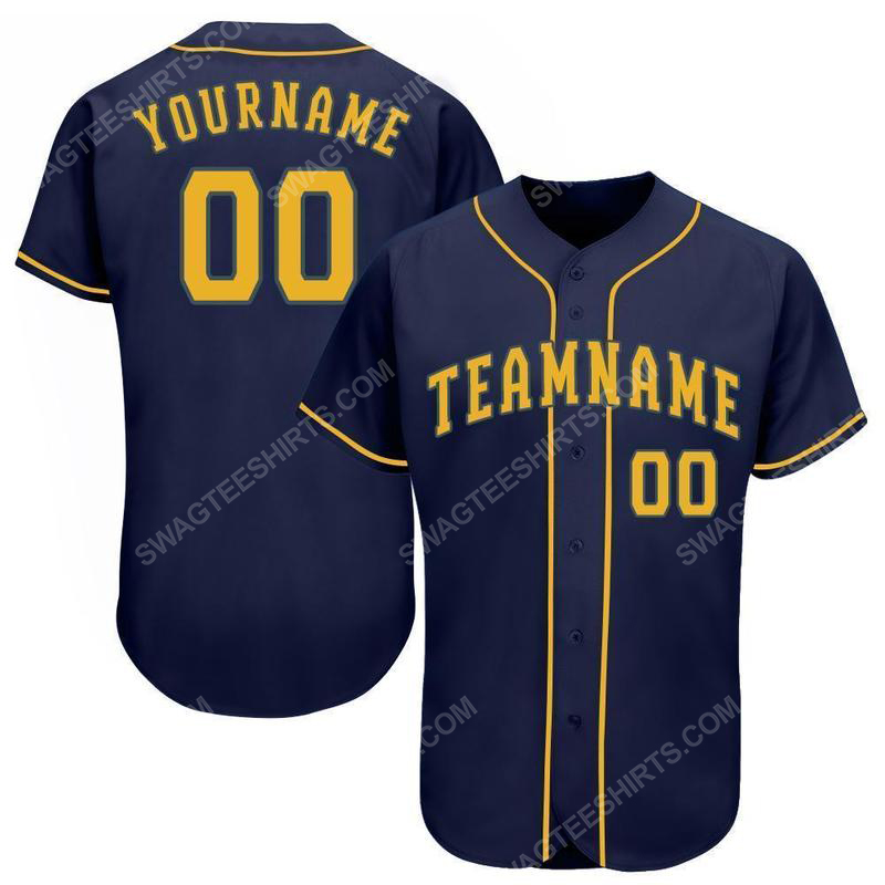 Custom team name milwaukee brewers full printed baseball jersey 1(1) - Copy