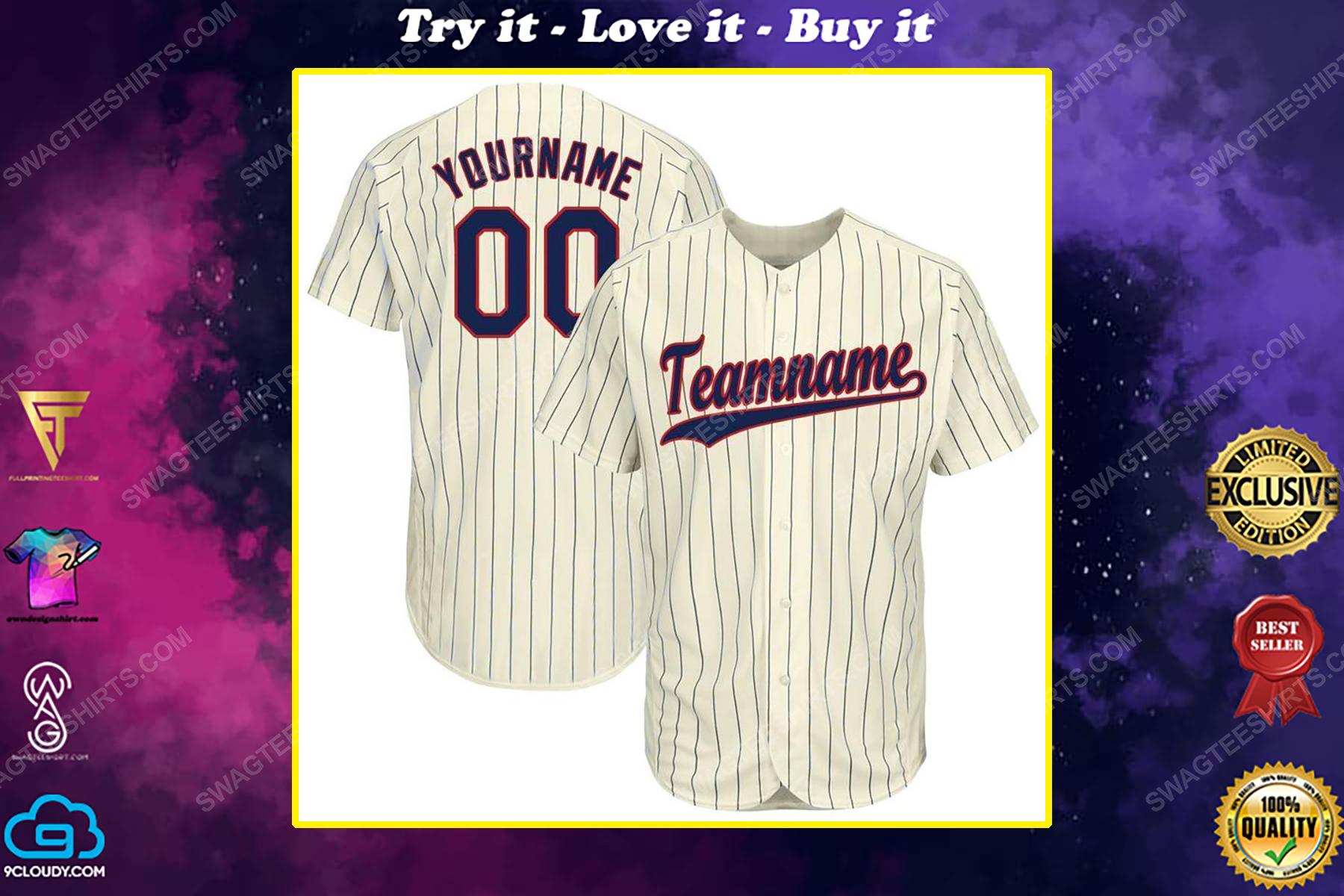 Custom team name minnesota twins baseball full printed baseball jersey