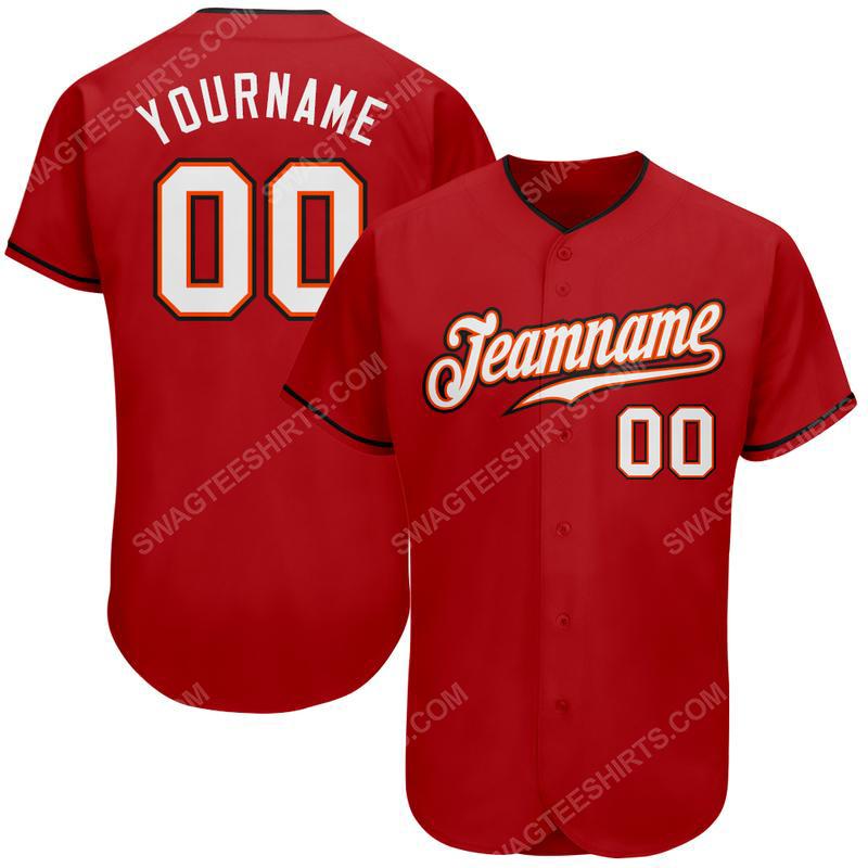 Custom team name mlb boston red sox full printed baseball jersey 2(1)