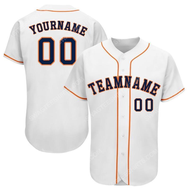 Custom team name mlb houston astros full printed baseball jersey 1(1)