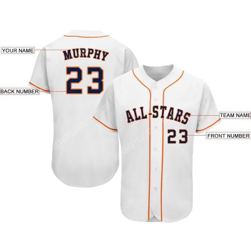Custom team name mlb houston astros full printed baseball jersey 2(1)