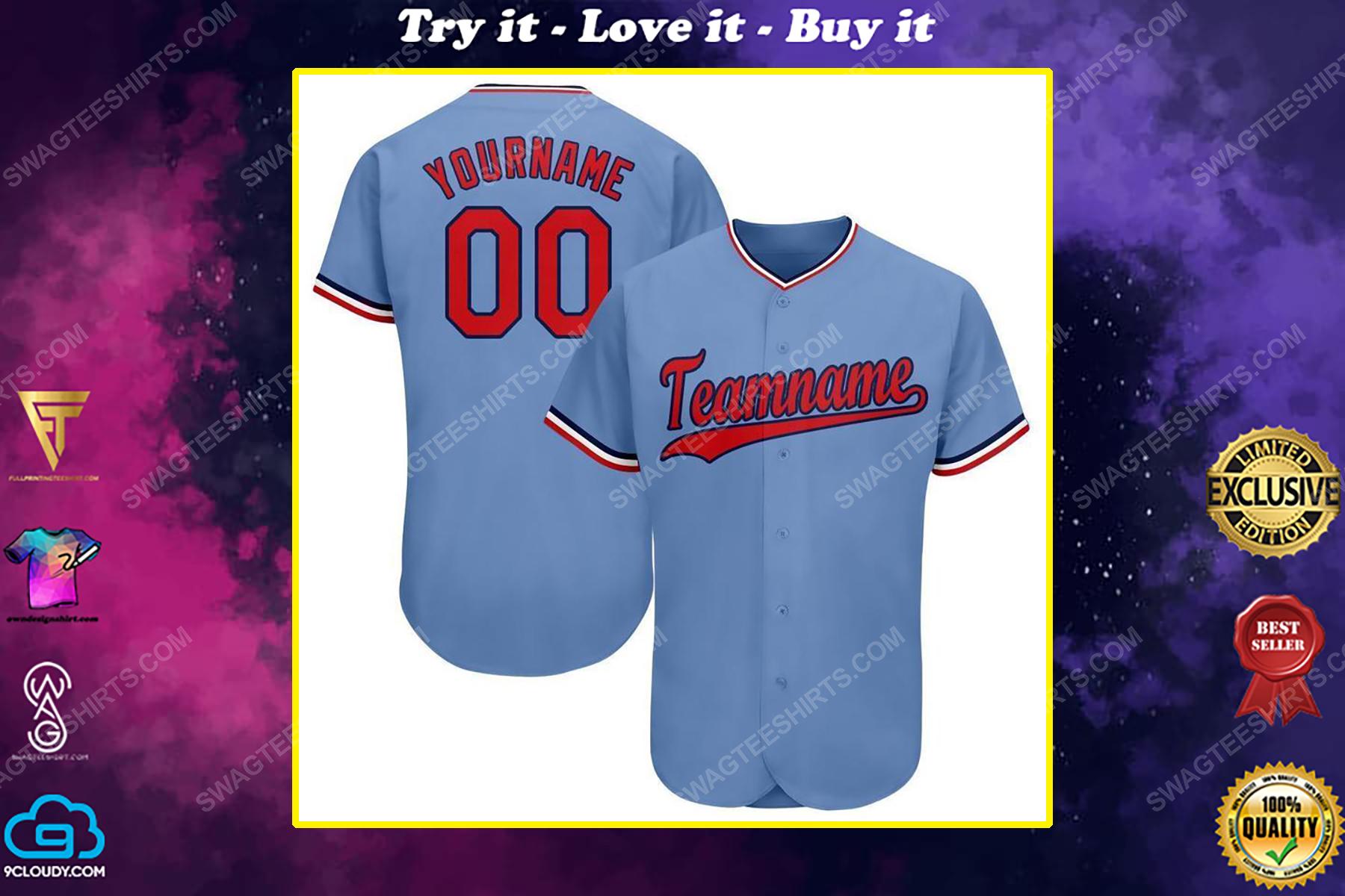 Custom team name mlb minnesota twins full printed baseball jersey