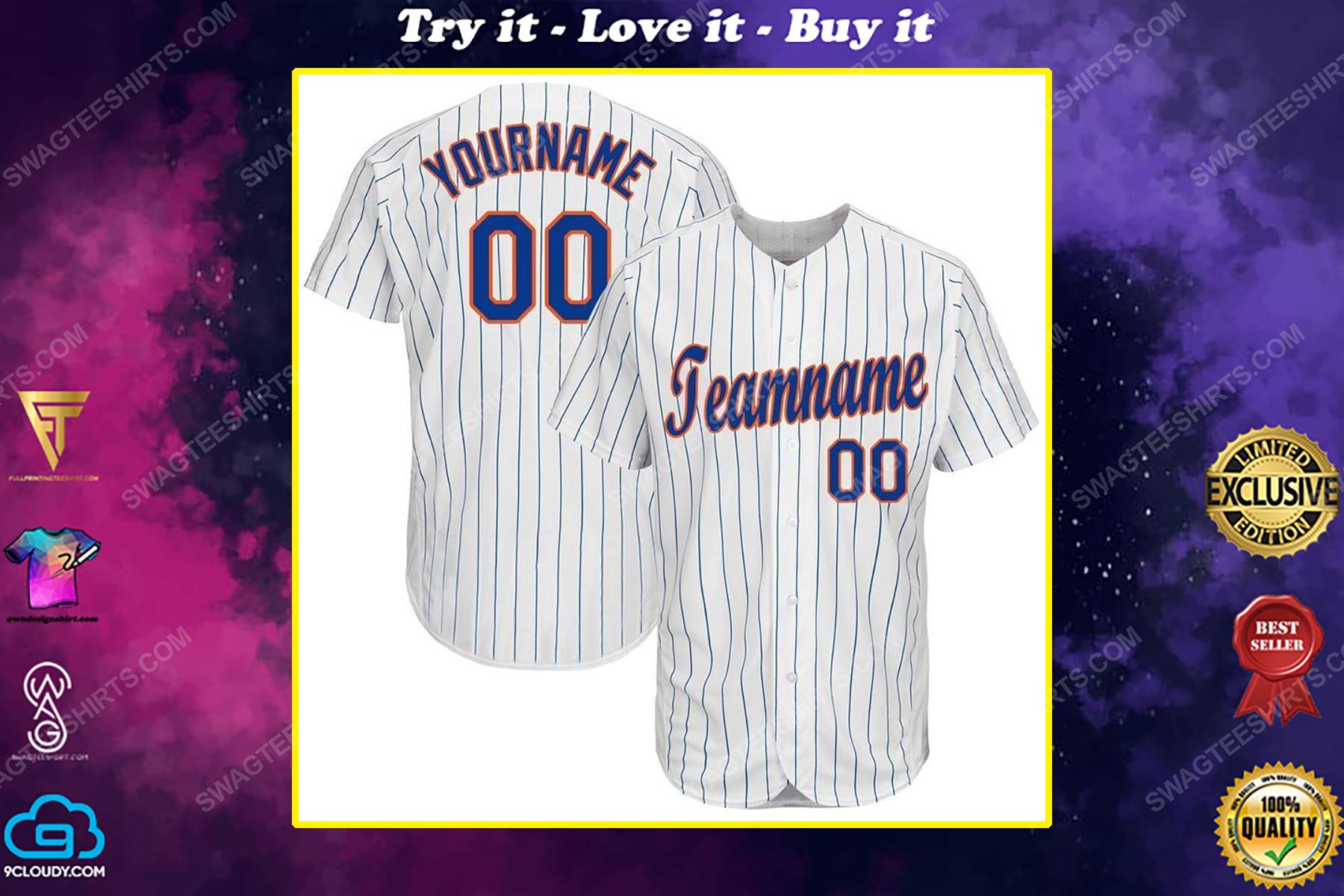Custom team name mlb new york yankees full printed baseball jersey