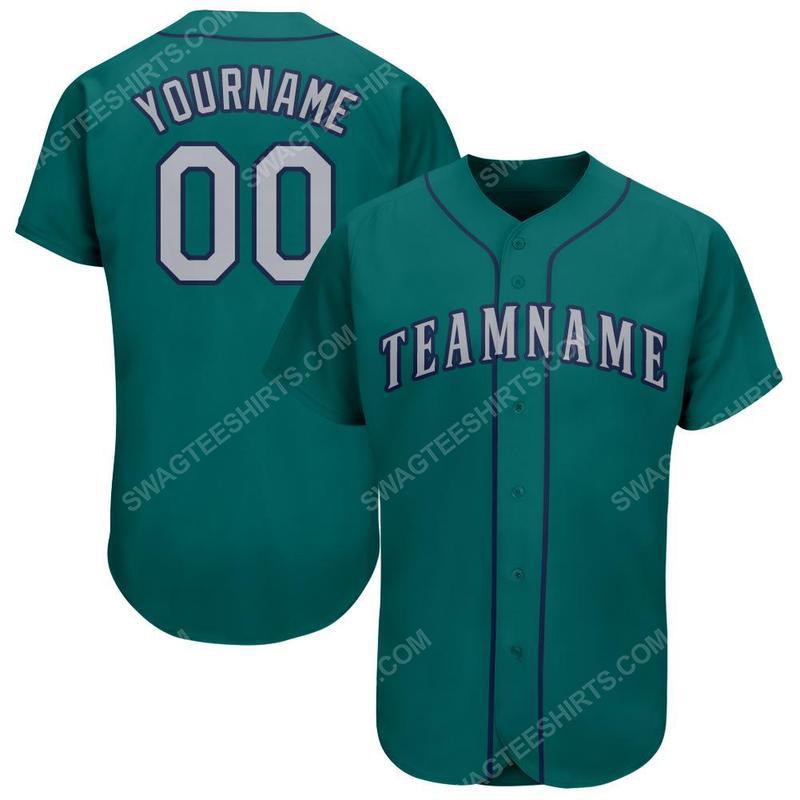 Custom team name mlb seattle mariners full printed baseball jersey 1(1)