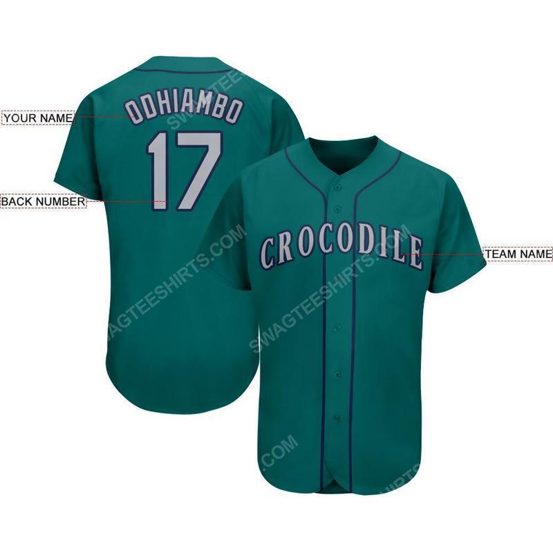 Custom team name mlb seattle mariners full printed baseball jersey 2(1)