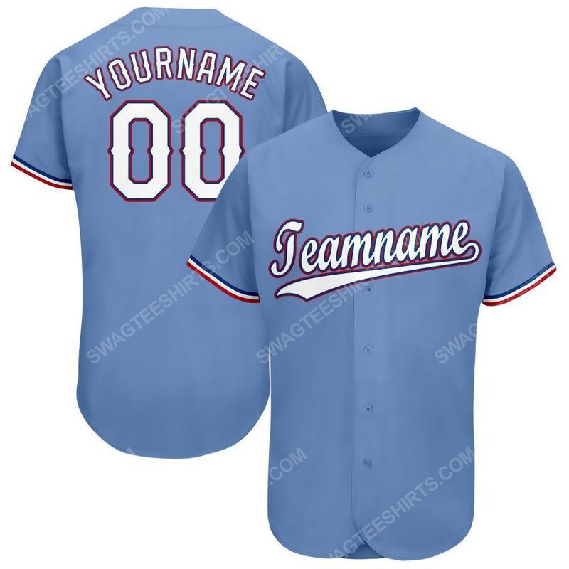 Custom team name mlb texas rangers full printed baseball jersey 1(1)