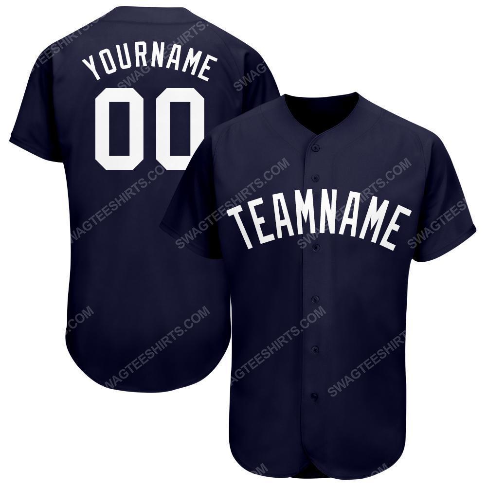 Custom team name new york yankees full printed baseball jersey 1(1) - Copy