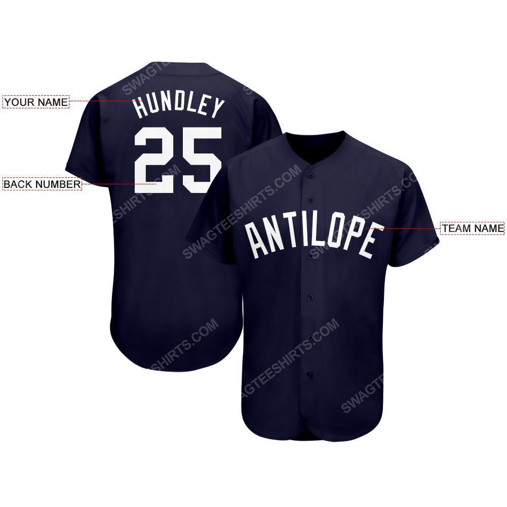 Custom team name new york yankees full printed baseball jersey 2(1) - Copy