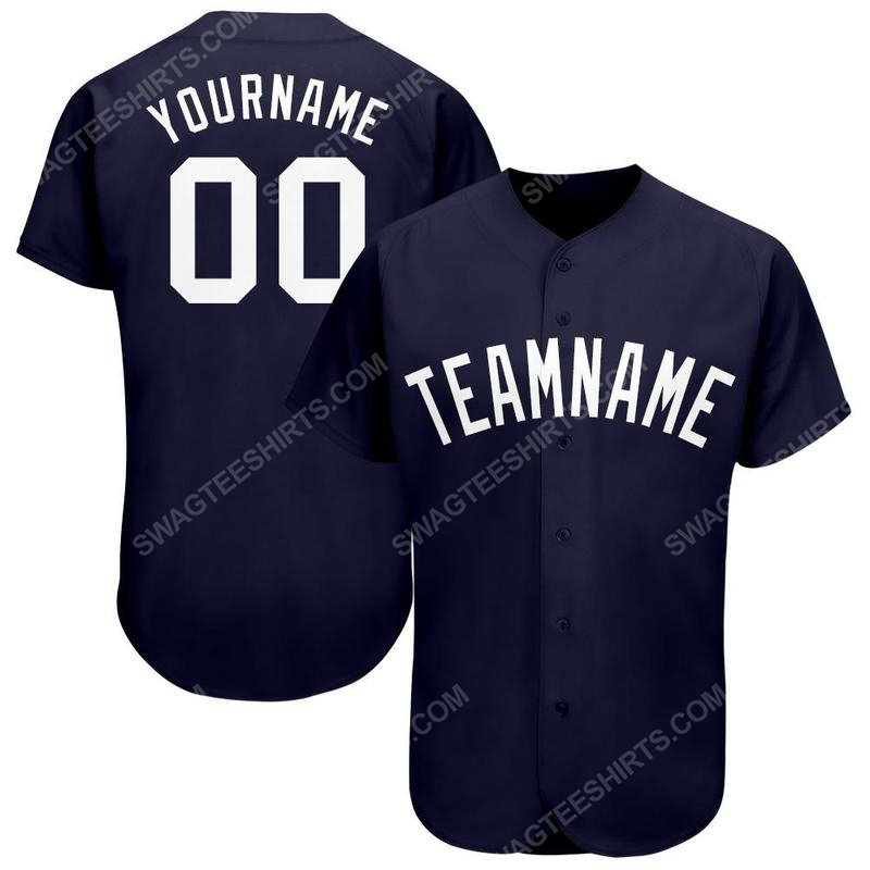 Custom team name new york yankees logo full printed baseball jersey 1(1)