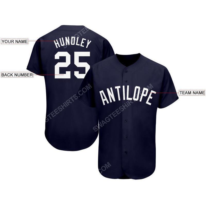 Custom team name new york yankees logo full printed baseball jersey 2(1)