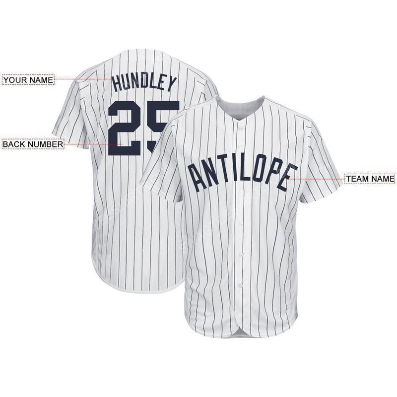 Custom team name new york yankees mlb full printed baseball jersey 2(1)