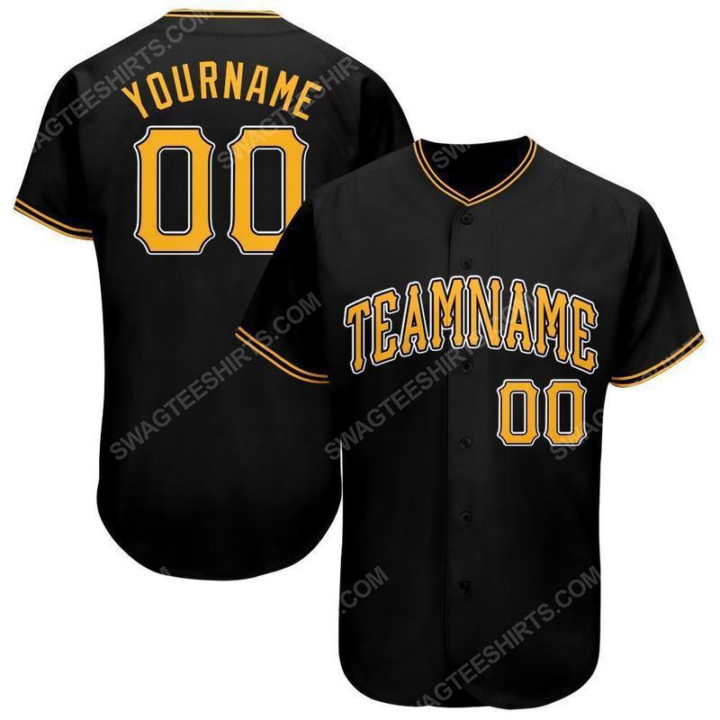 Custom team name pittsburgh pirates full printed baseball jersey 1(1)