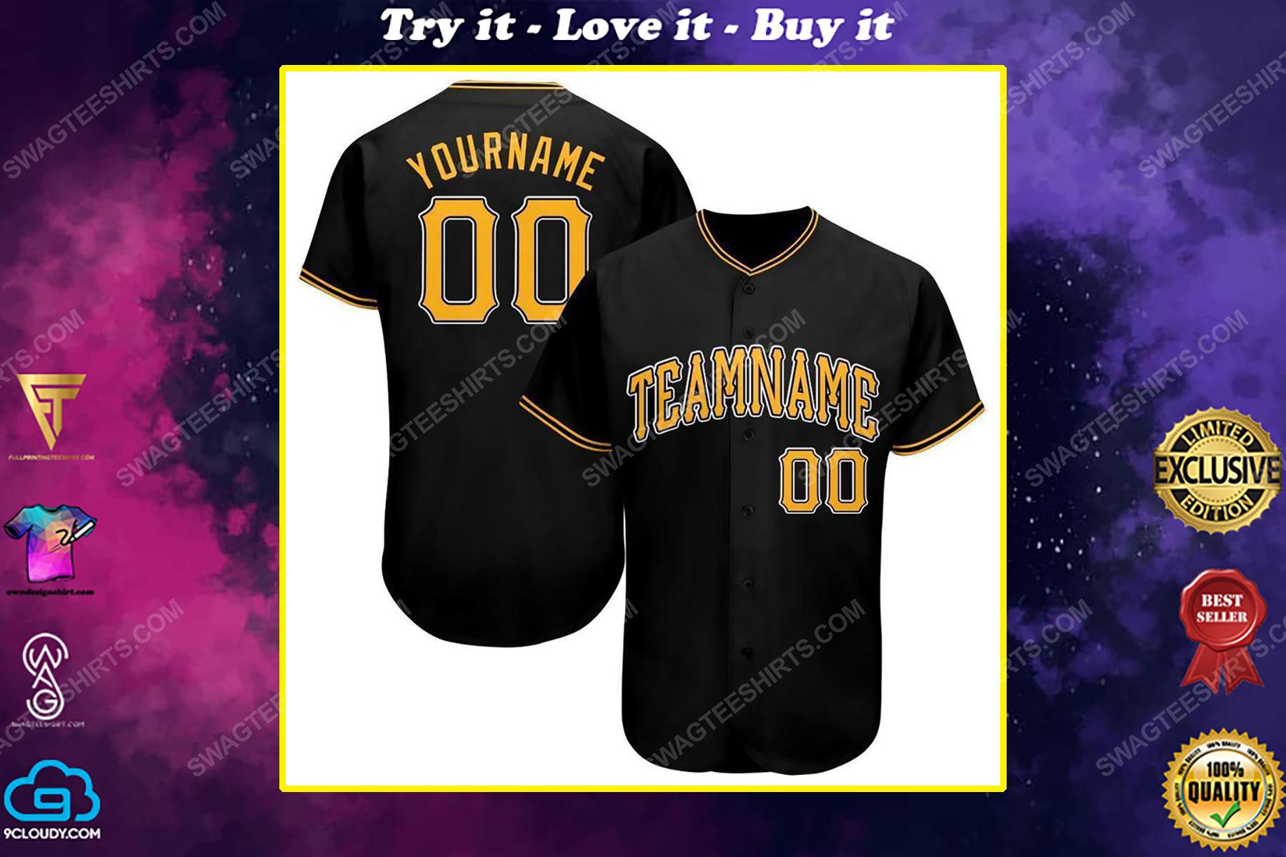 Custom team name pittsburgh pirates full printed baseball jersey