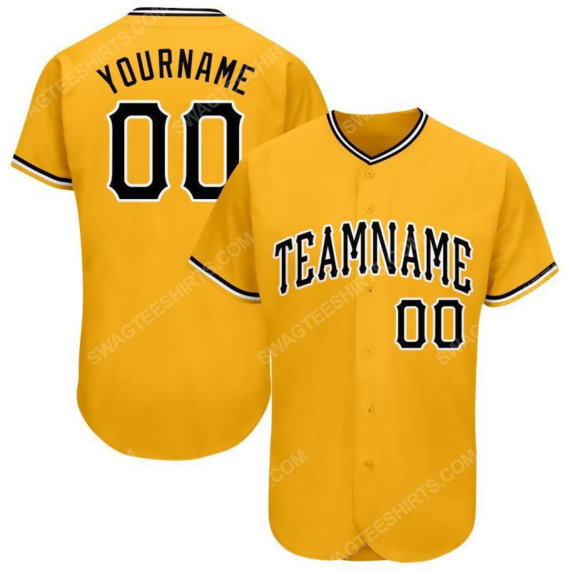 Custom team name pittsburgh pirates mlb full printed baseball jersey 1(1)