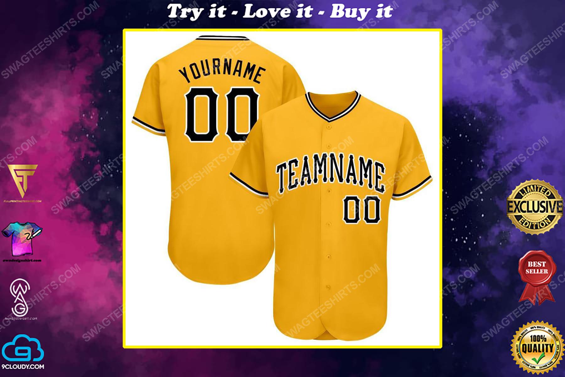 Custom team name pittsburgh pirates mlb full printed baseball jersey