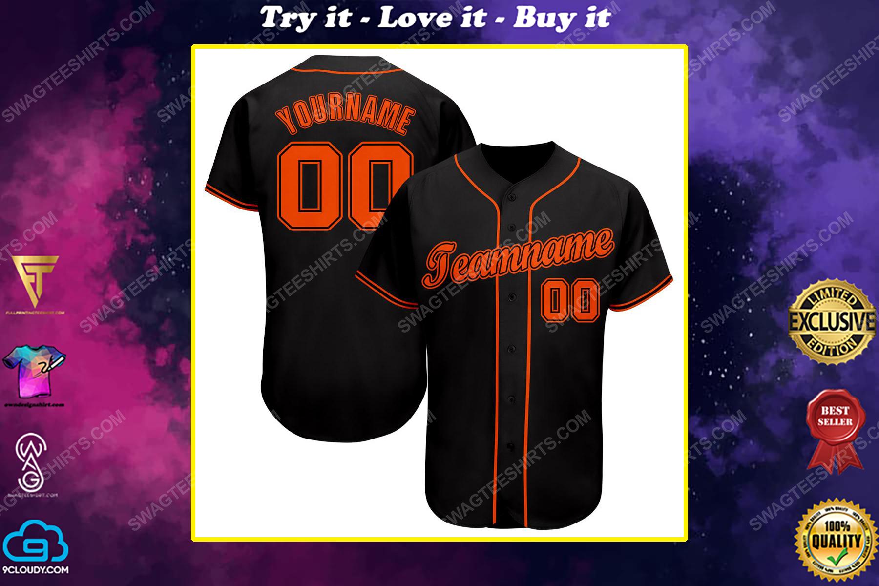 Custom team name san francisco giants full printed baseball jersey