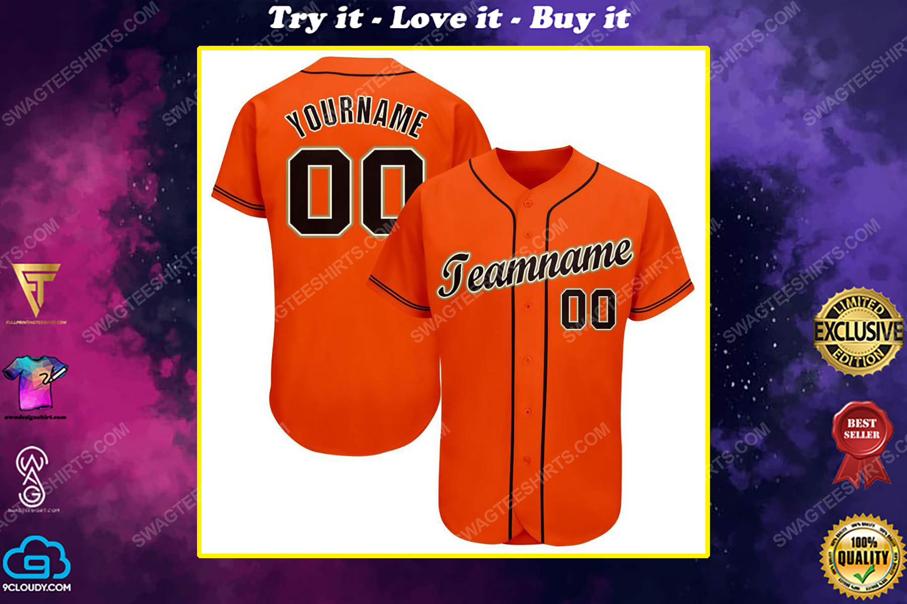 Custom team name san francisco giants mlb full printed baseball jersey