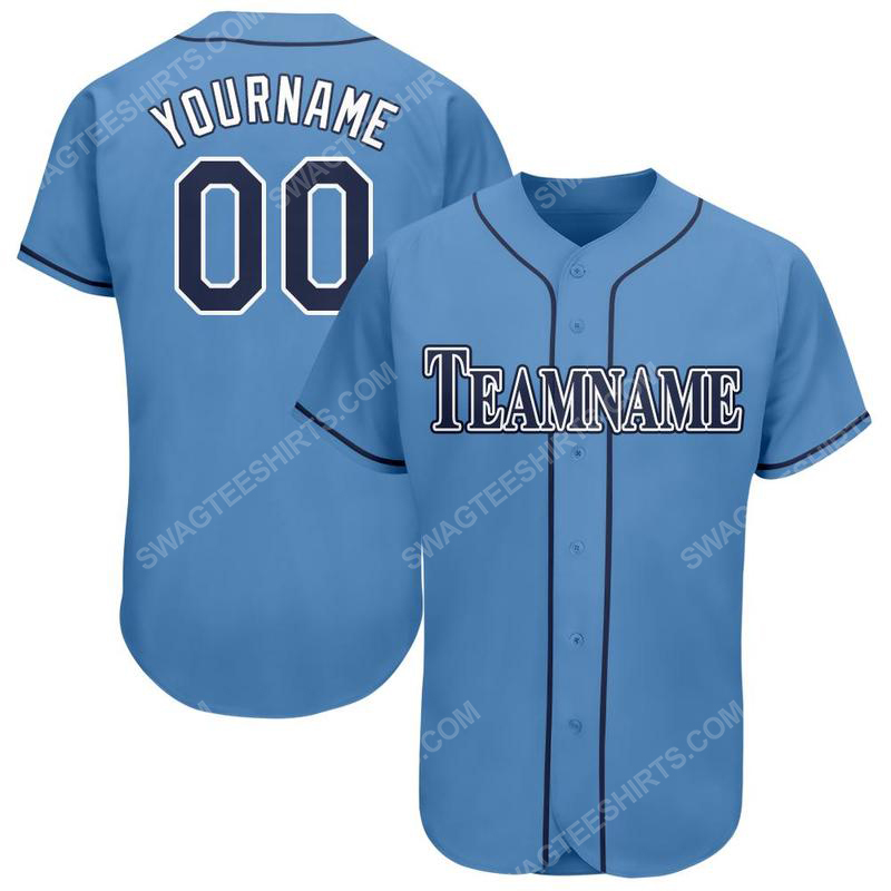 Custom team name tampa bay rays full printed baseball jersey 1(1)