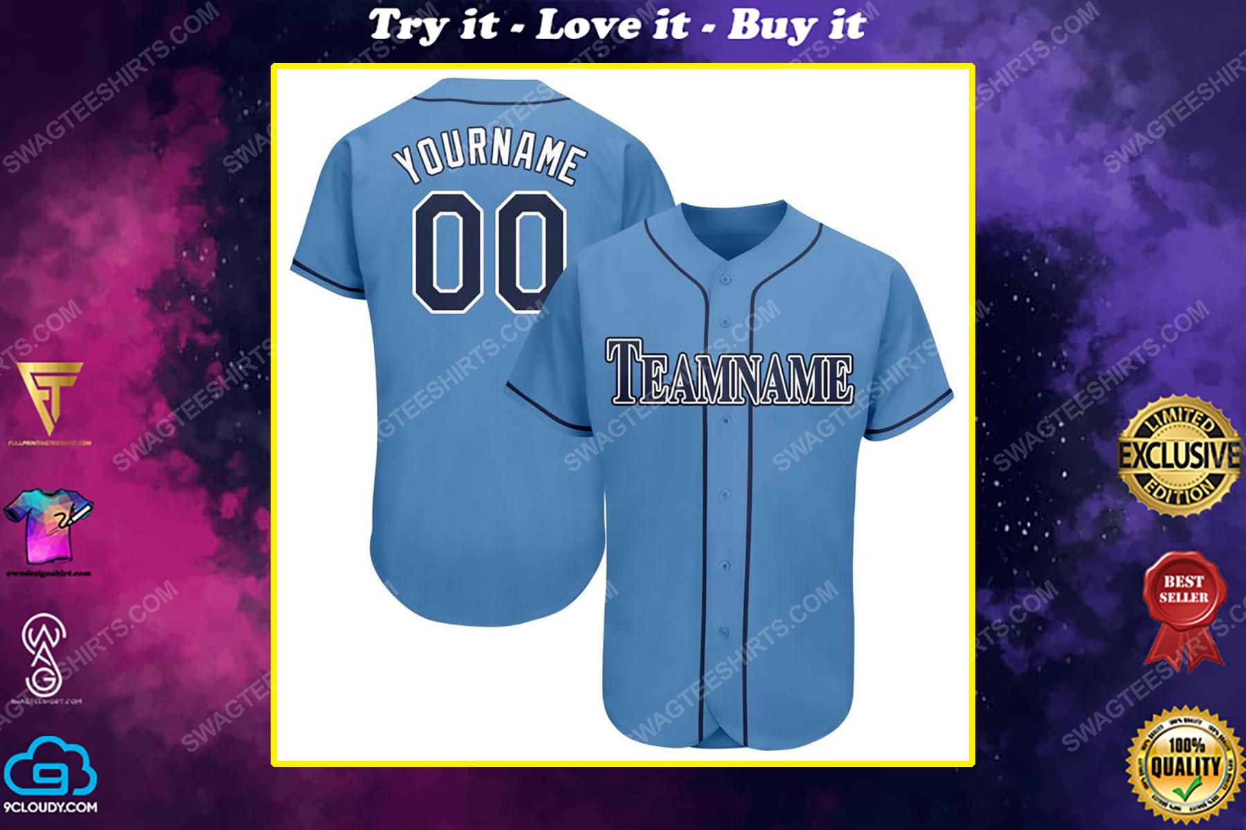 Custom team name tampa bay rays full printed baseball jersey