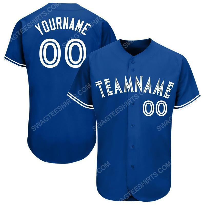Custom team name toronto blue jays full printed baseball jersey 1(1)