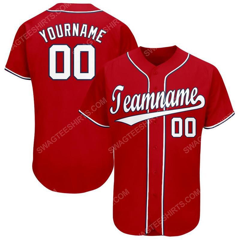 Custom team name washington nationals full printed baseball jersey 1 - Copy(1) - Copy