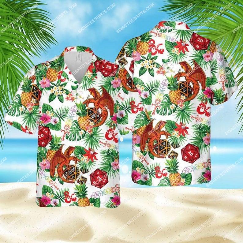 Dice pineapple dragon dice game summer vacation hawaiian shirt 1 - Copy (2)