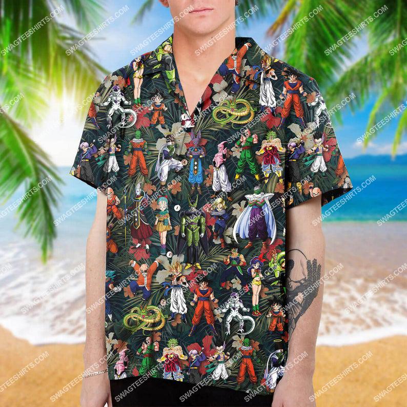 Dragon ball z characters summer vacation hawaiian shirt 1 - Copy (2)