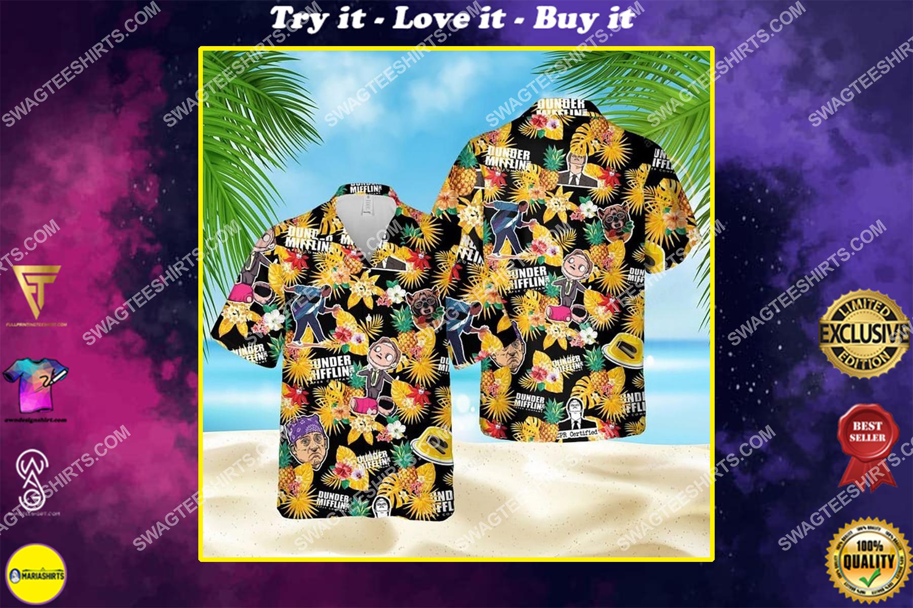 Dunder mifflin paper company the office tv show hawaiian shirt