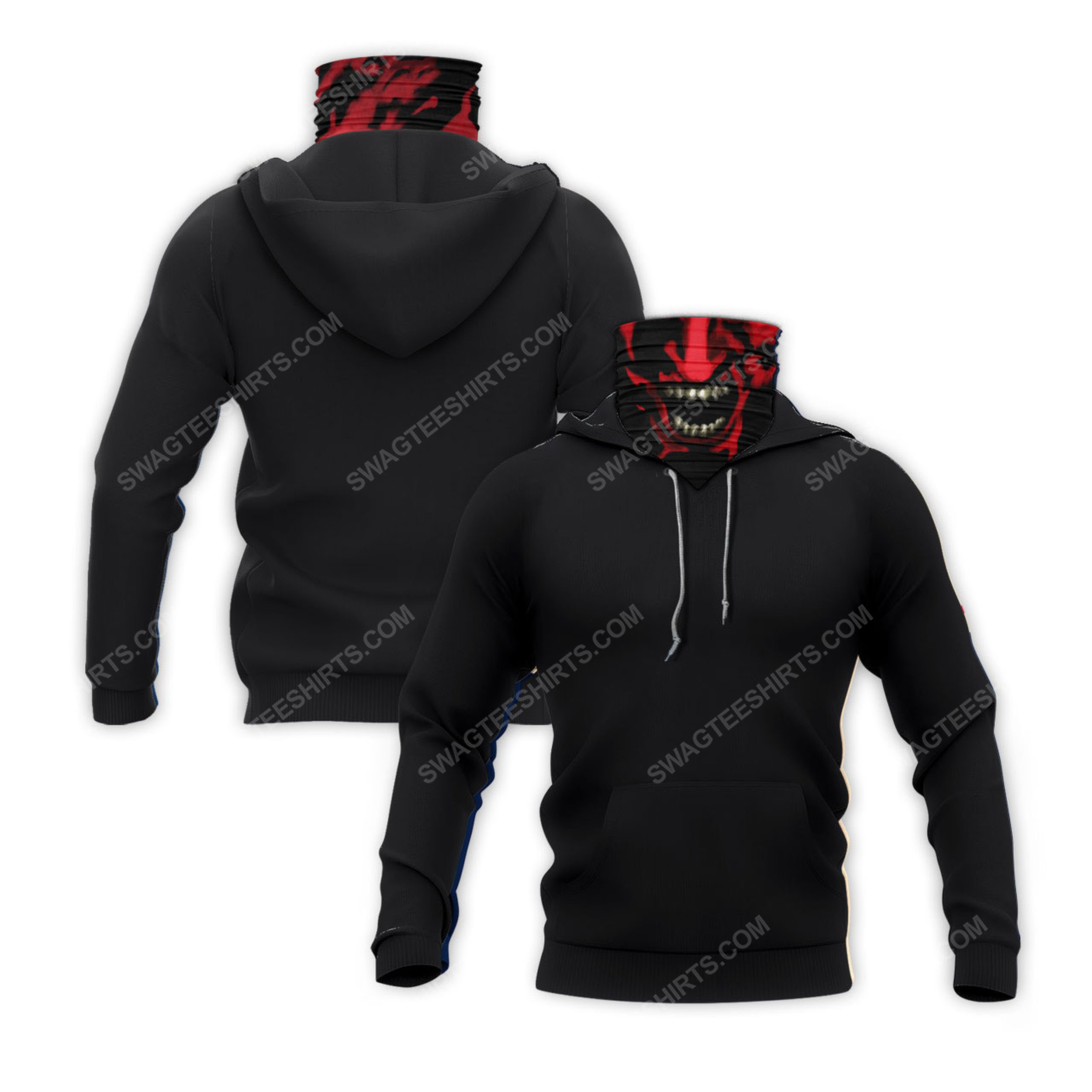 Face red demon for halloween full print mask hoodie 2(1) - Copy