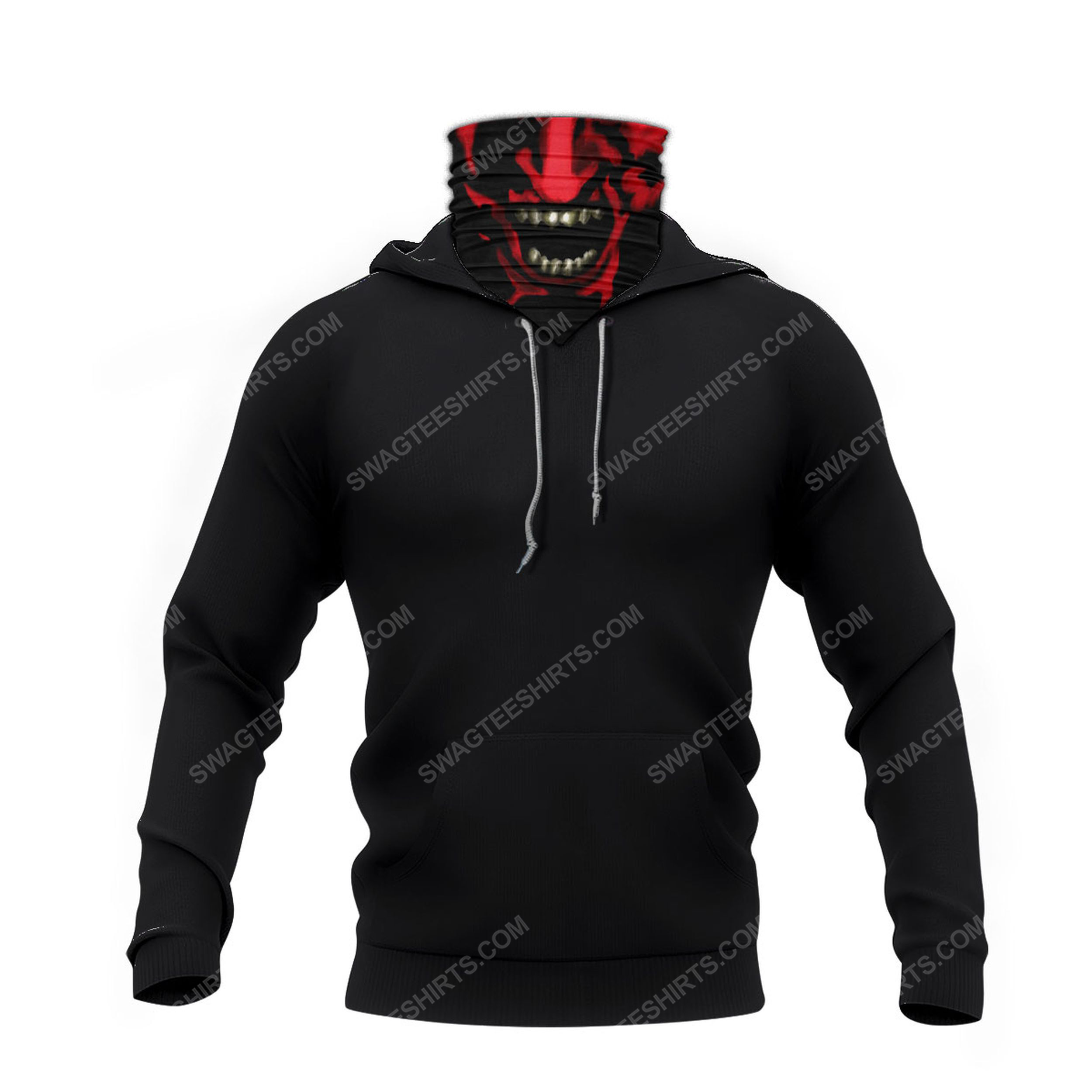 Face red demon for halloween full print mask hoodie 4(1)