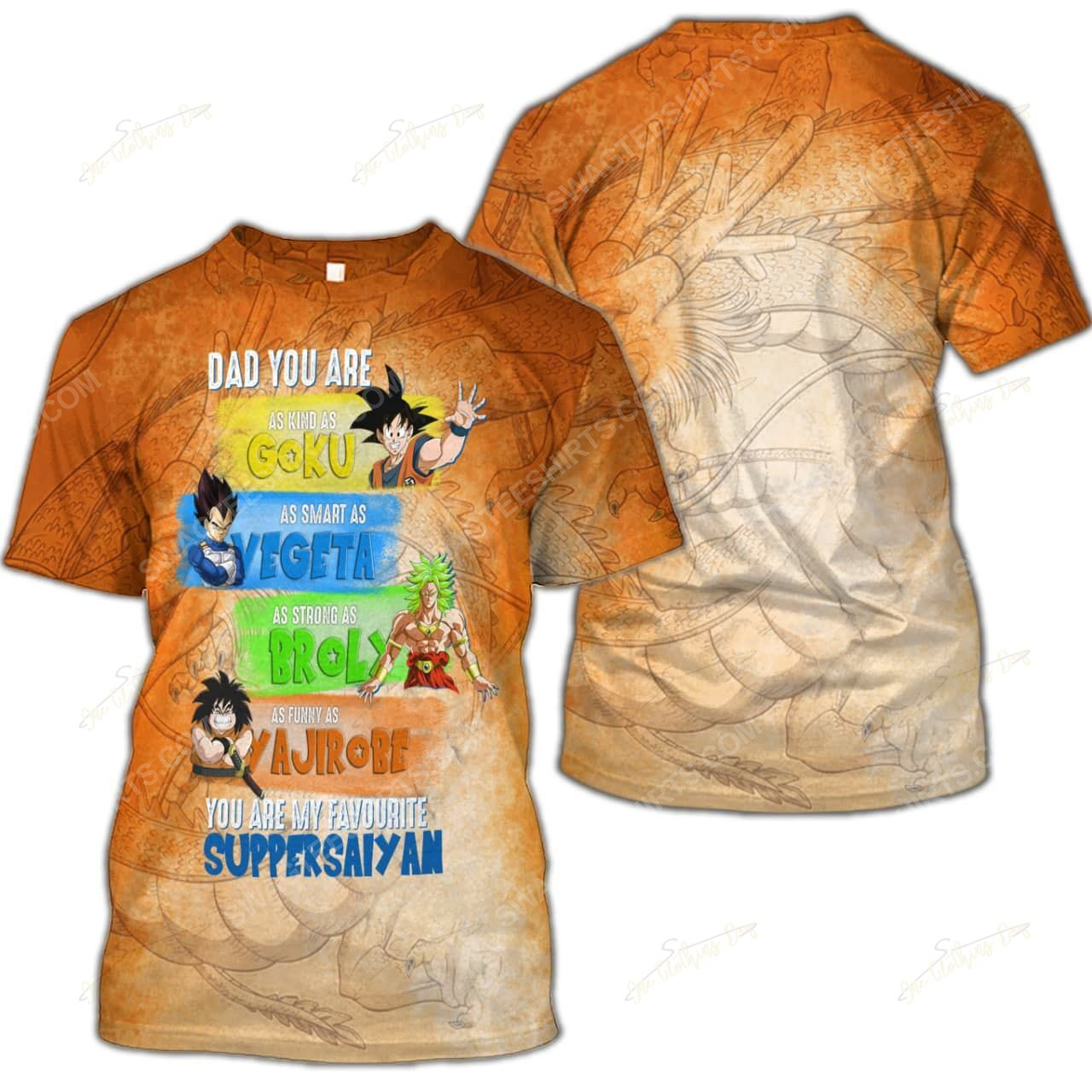 Fathers day dad you are as kind as goku dragon ball z shirt 2(1)